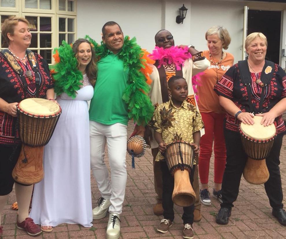 Drumming at wedding reception